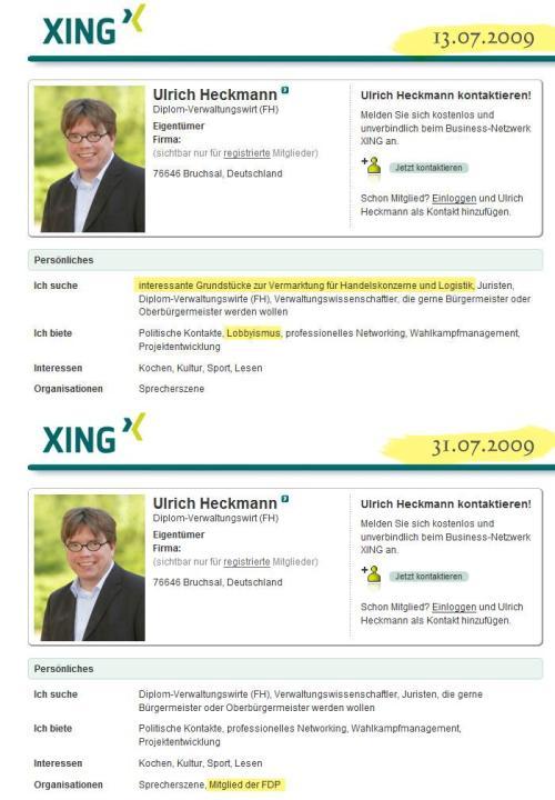 Heckmann bei XING